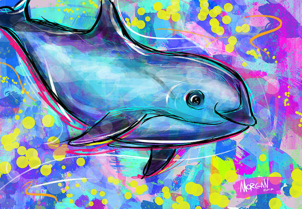 Indonesia Digital Art - Vaquita by Morgan Richardson