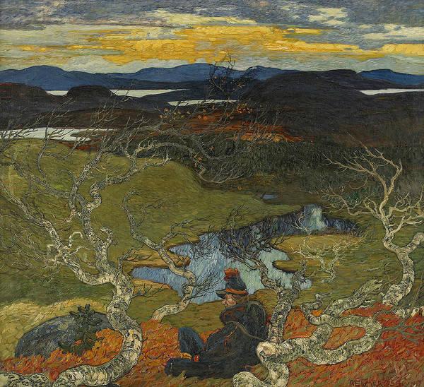 Painting - Varafton Behind Kiruna by Helmer Osslund
