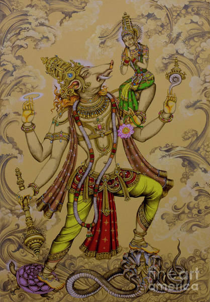 Wall Art - Painting - Varaha Deva by Vrindavan Das