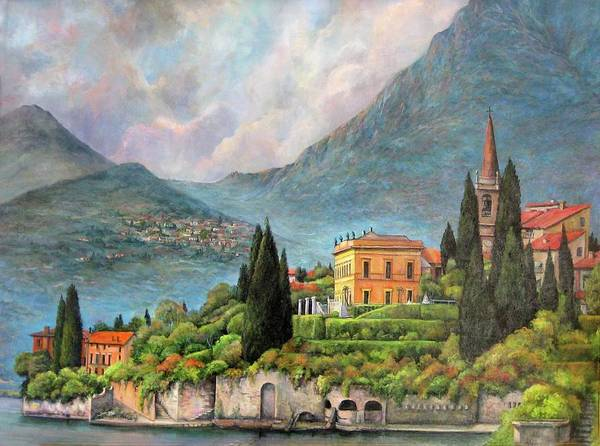 Painting - Varenna Italy by Donna Tucker