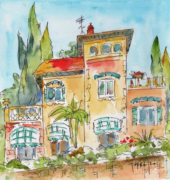 Painting - Varenna Villa Lake Como  by Pat Katz