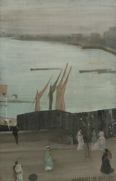 Painting - Variations In Pink And Grey Chelsea by James Abbott McNeill Whistler