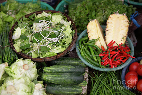 Quang Nam Province Photograph - Variety Of Vegetables, Spices And Sliced Pneapples by Lisa Top