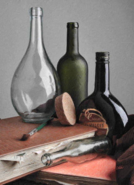 Painting - Various Bottles Still Life by Dean Wittle