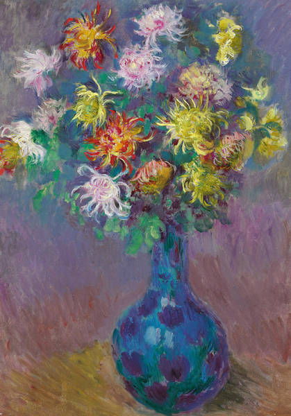 Wall Art - Painting - Vase Of Chrysanthemums by Claude Monet