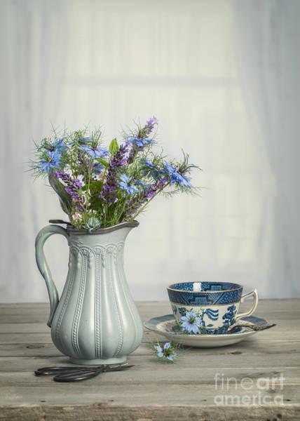 Cornflowers Photograph - Vase Of Cornflowers by Amanda Elwell