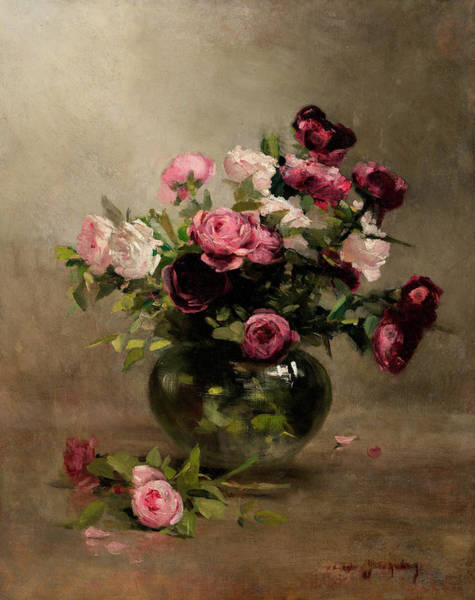 Wall Art - Painting - Vase Of Roses by Eva Gonzales