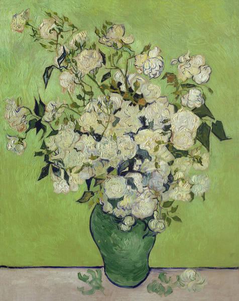 Painting - Vase Of Roses Van Gogh 1890 by Vincent Van Gogh