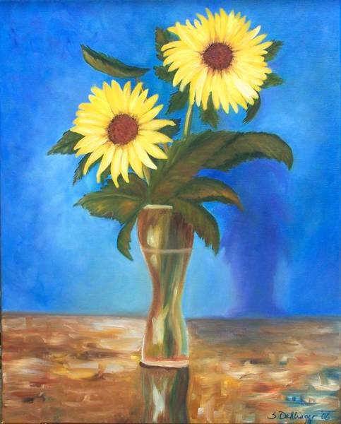 Painting - Vase Of Sunshine by Susan Dehlinger