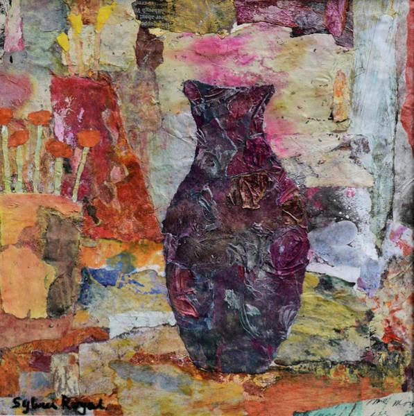 Wall Art - Painting - Vase Outside Potting Shed by Sylvia Royal