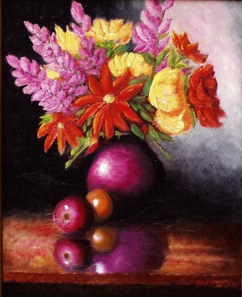 Painting - Vase With Flowers by Gene Gregory