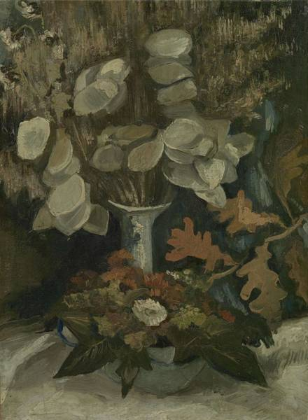 Painting - Vase With Honesty Nuenen, Autumn - Winter 1884 Vincent Van Gogh 1853  1890 by Artistic Panda