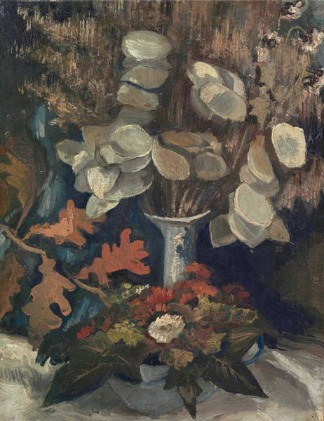 Annual Painting - Vase With Lunaria, 1884 by Vincent Van Gogh