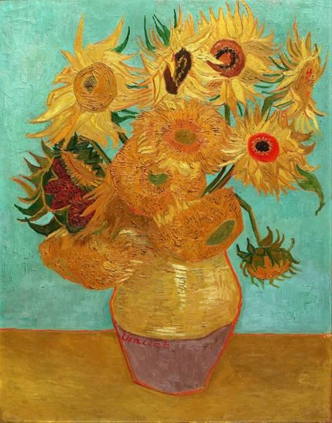 Painting - Vase With Twelve Sunflowers by Van Gogh