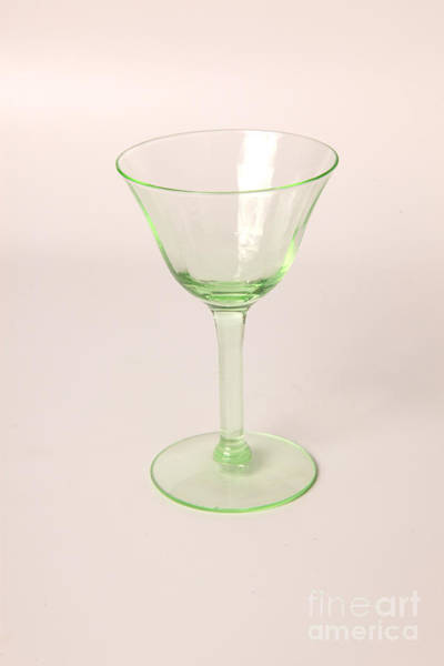 Beta Radiation Photograph - Vaseline Glass by Ted Kinsman
