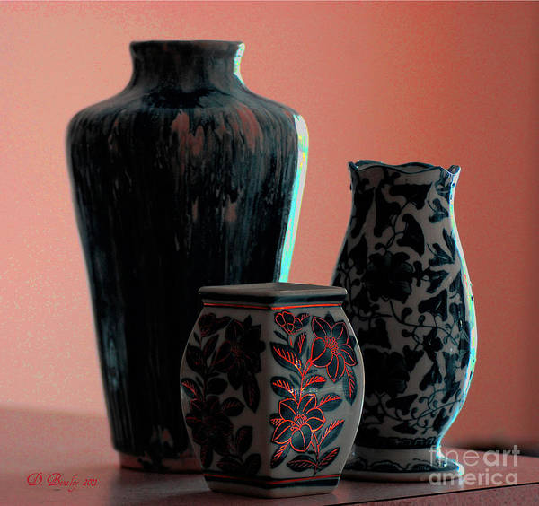 Photograph - Vases 2 by Donna Bentley