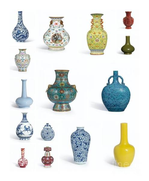Painting - Vases Collage by Celestial Images