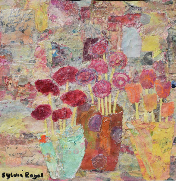Wall Art - Painting - Vases Of Various Flowers by Sylvia Royal