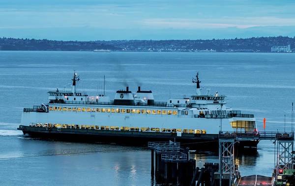 Photograph - Vashon Island Ferry by E Faithe Lester