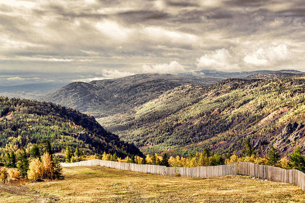 Photograph - Vast Autumn Mountains And Forests In Russia by John Williams