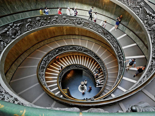 Photograph - Vatican Museum Stairway by S Paul Sahm