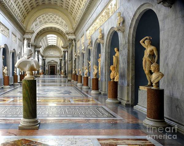 Sistine Chapel Wall Art - Photograph - Vatican Museums Interiors by Stefano Senise
