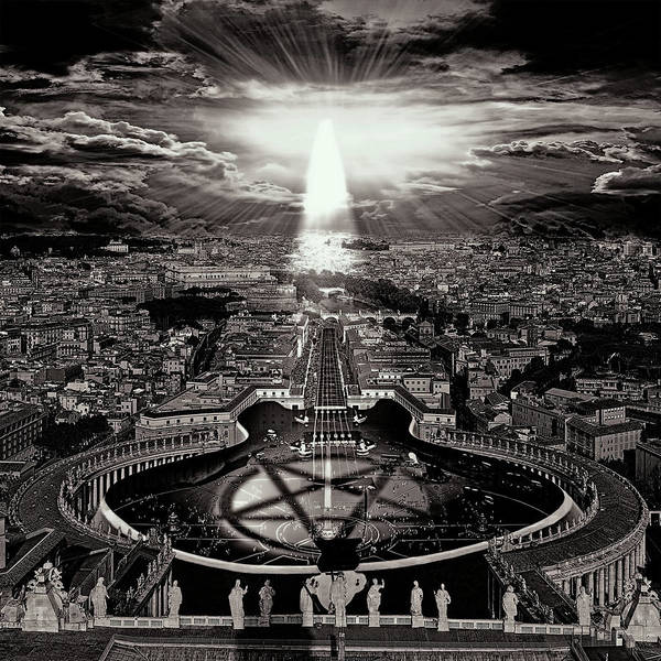 Grayscale Digital Art - Vatican Rocking View Black And White by Marian Voicu