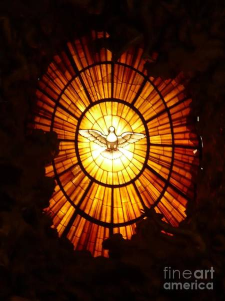 Holy Spirit Photograph - Vatican Window by Carol Groenen