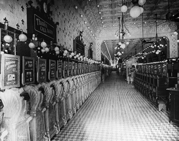 Photograph - Vaudeville Arcade 1890s by Granger