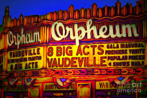 Photograph - Vaudeville Night At The Orpheum Theater 20151222 by Wingsdomain Art and Photography