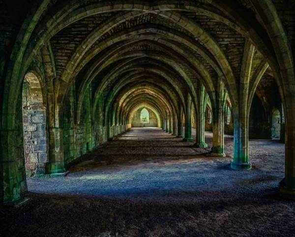 Photograph - Vaulted, Fountains Abbey, Yorkshire, United Kingdom by Chris Coffee