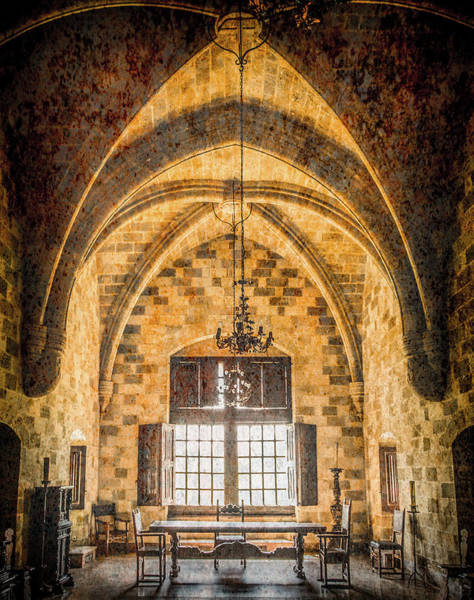 Photograph - Rhodes, Greece - Vaulted Office by Mark Forte