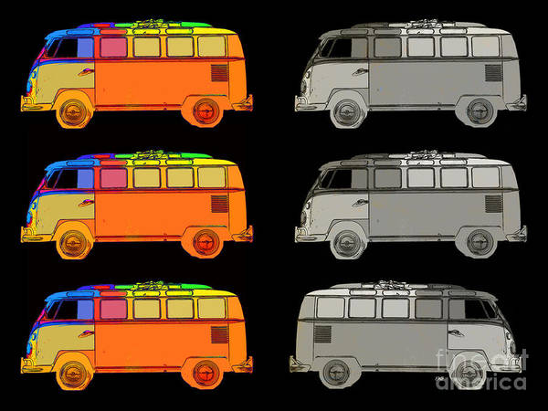 Photograph - Vdub Surfer Bus Series by Edward Fielding