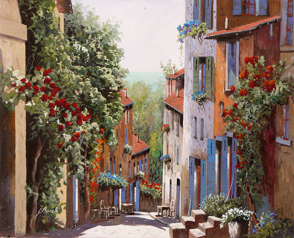 Old Wall Art - Painting - vecchia Cagnes by Guido Borelli