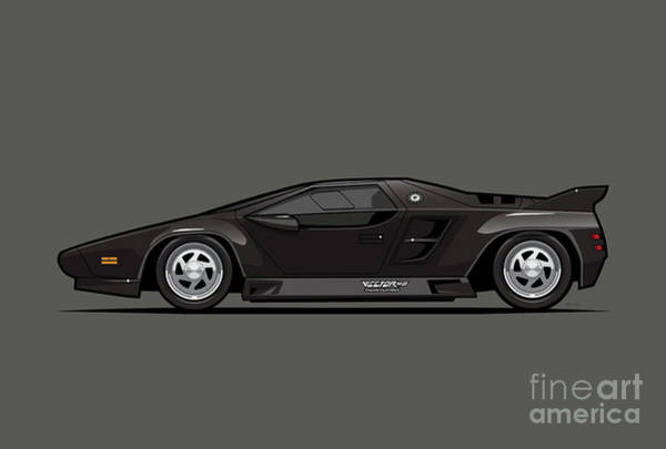 Wall Art - Digital Art - Vector W8 Twin Turbo Black by Monkey Crisis On Mars