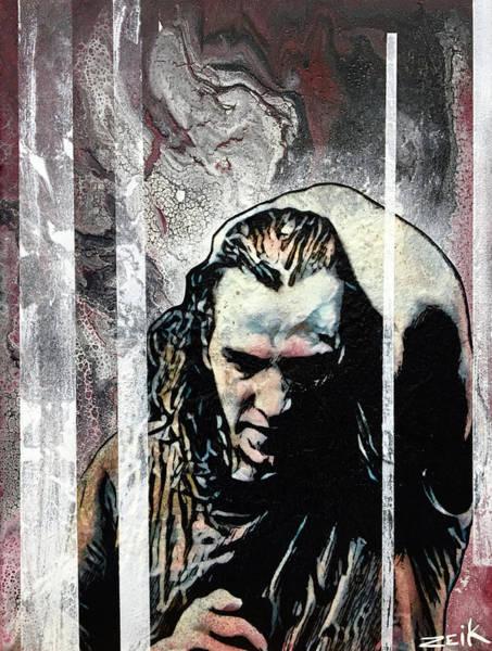 Pearl Jam Painting - Vedder - Black by Bobby Zeik
