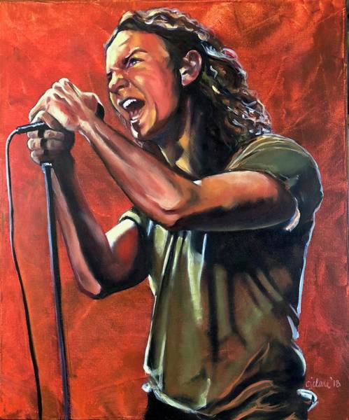 Pearl Jam Painting - Vedder by Christina Clare