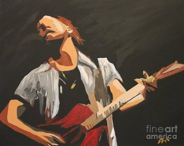 Pearl Jam Painting - Vedder by Steven Dopka
