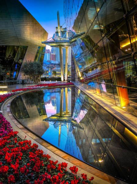 Photograph - Vegas Ari Reflecting Pool by Michael Ash