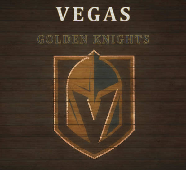 Wall Art - Mixed Media - Vegas Golden Knights Barn Door by Dan Sproul