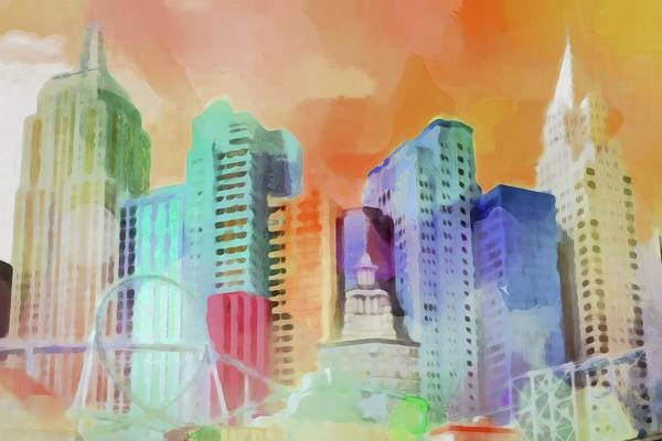 Painting - Vegas New York by Lutz Baar