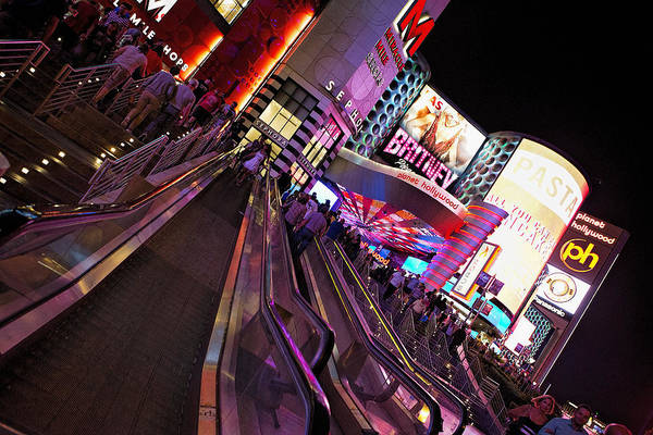 Sephora Wall Art - Photograph - Vegas Nightlife by Deborah Penland