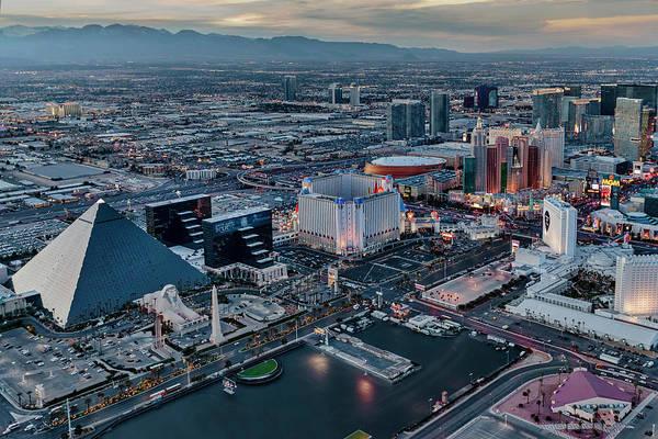 Photograph - Vegas Strip Aerial by Susan Candelario