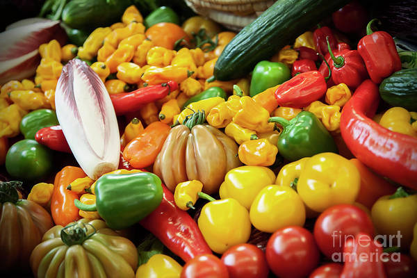 Photograph - Vegetable Background by Ariadna De Raadt