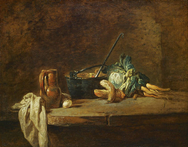 Painting - Vegetables For The Soup by Jean-Baptiste-Simeon Chardin