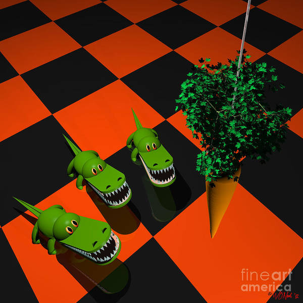 Digital Art - Veggie Gators by Walter Neal