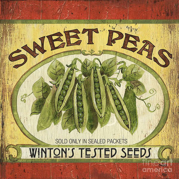 Veggies Painting - Veggie Seed Pack 1 by Debbie DeWitt