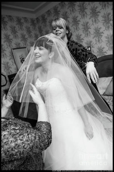 Photograph - Veiling The Bride by Keith Morris