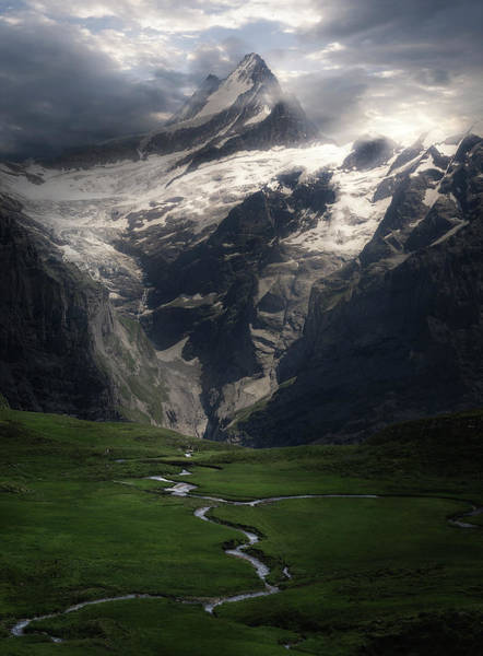 Swiss Alps Wall Art - Photograph - Veins Of A Mountain by Rob Visser