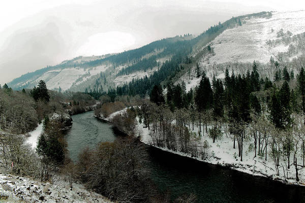 Montain Photograph - Veiw Of The Klickatat River by Jeff Swan